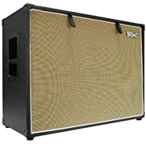 "Seismic Audio - 212 GUITAR SPEAKER CABINET EMPTY - 7 Ply Birch - 12"" Speakerless Cab - 2x12 - Black Tolex - Wheat Cloth Grill - Front or Rear Loading Options"