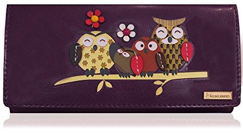 KukuBird Owl Family Tree Pattern Large Size Ladies