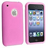 eForCity Compatible With iPhone® 3Gs 3G 2G PINK SILICONE CASE COVER SKIN