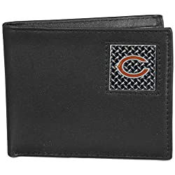 NFL Chicago Bears Leather Gridiron Bi-Fold Wallet