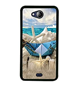 Beach Holidays 2D Hard Polycarbonate Designer Back Case Cover for Micromax Canvas Play Q355
