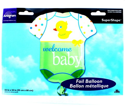 """Xl 24"""" Welcome Baby Onesie Mylar Foil Balloon Party Decoration front-807805"""