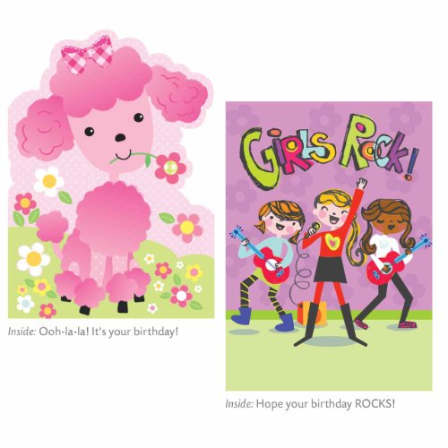 Buy Peaceable Kingdom Birthday Card Set For Girls
