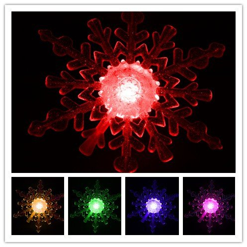 Innoo Tech**Multi-Colored Color Changing Snowflake Led Christmas Light Window Ornament Light For Christmas, Indoor Decoration, Holiday, Party