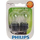 Philips 4157 LongerLife Miniature Bulb, 2 Pack