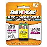 Rayovac Rechargeable NiMH Batteries  9V Size Carded 1 Pack