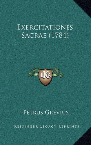 Exercitationes Sacrae (1784) Exercitationes Sacrae (1784)