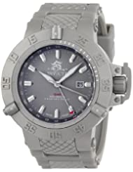 Invicta Men's 0781BYB Subaqua Noma III GMT Grey Polyurethane Watch