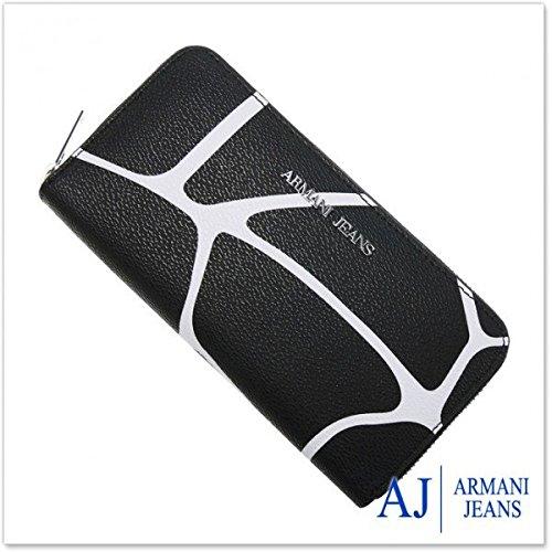 Armani Jeans portafoglio portamonete donna bifold originale bicolor nero