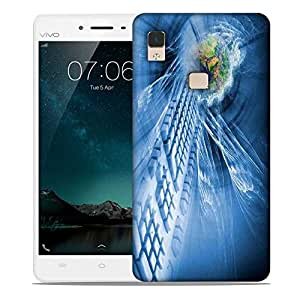 Snoogg abstract internet background Designer Protective Back Case Cover For Vivo V3 Max