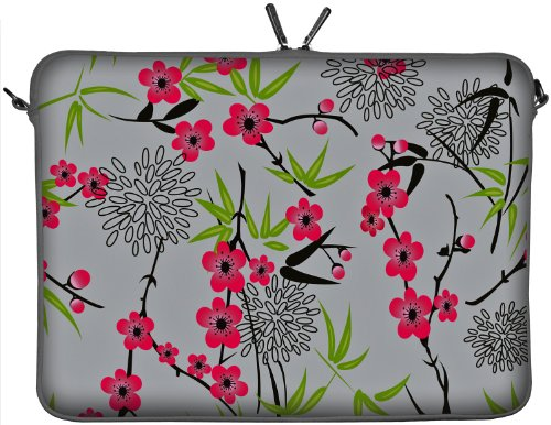 Digittrade LS104-10 Sakura Designer Notebook Sleeve Laptop Softcase Netbook Cover Tablet Bag Neoprene 10.2 inch