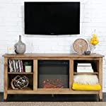 New 58 Inch Wide Honey Colored Television Stand with Fireplace Insert from Home Accent Furnishings
