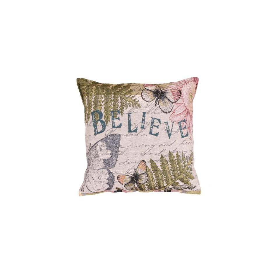 17 Butterfly Believe Tapestry Throw Pillow
