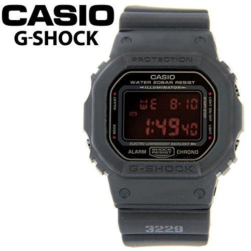 カシオ Gショック 腕時計 マットブラック レッドアイ DW5600MS-1 [逆輸入品]