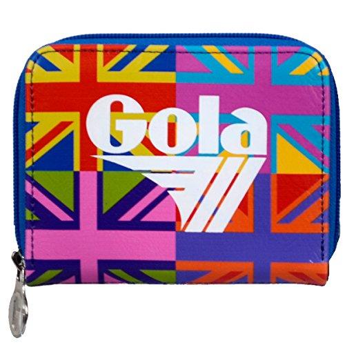 Portafoglio GOLA Zip Davis - ZCUB366EZ 13x10 - Dark Blue/Multi - Multi Flag