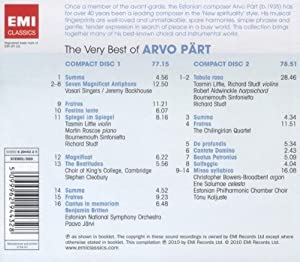 The Very Best of Arvo Part from EMI