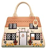 CICCIA COUNTRY COTTAGE CREAM LEATHER GRAB BAG OR SHOULDER BAG - EMBELLISHED WITH SWAROVSKI ELEMENTS