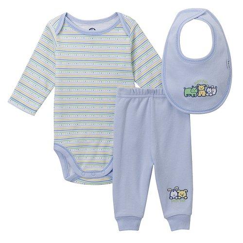 0d05b9503 Gerber Organic Cotton 3-pc. Layette Set - Blue Buy Baby Boy Gear ...