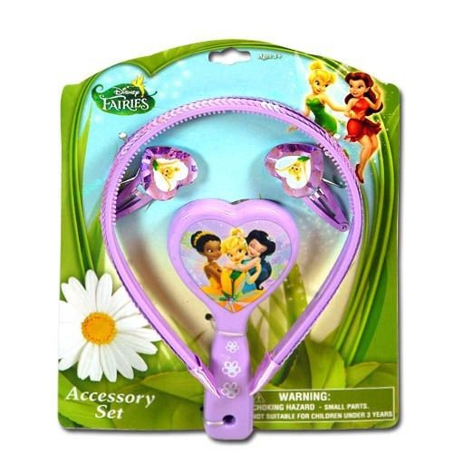Disney Fairies Tinkerbell Accessories Set (Headband, Brush & Snaps)