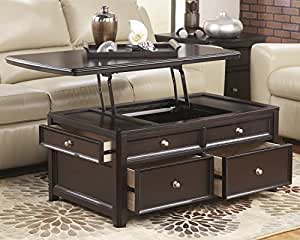 Carlyle Lift Top Coffee Table Almost Black