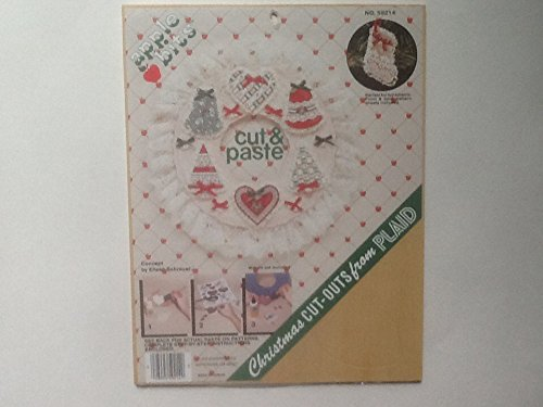 Plaid Cut And Paste Christmas Cut Out Ornaments front-787475