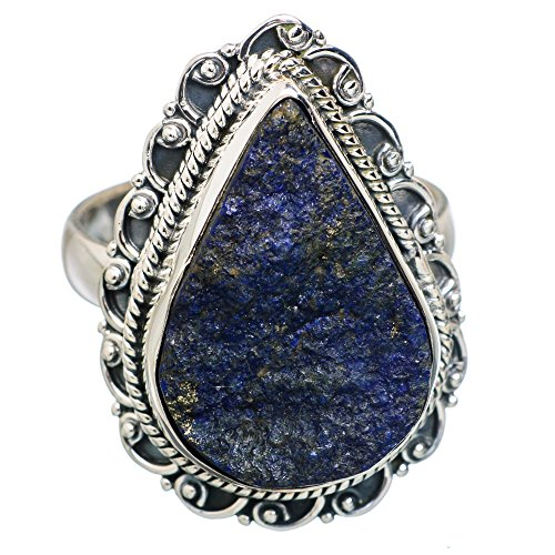 Ana Silver Co Rough Azurite 925 Sterling Silver Ring Size 9 RING777055 (Azurite Ring compare prices)