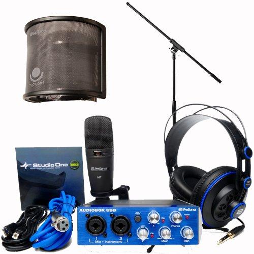 Presonus Audiobox Studio Audio Recording Interface Bundle - Upgraded