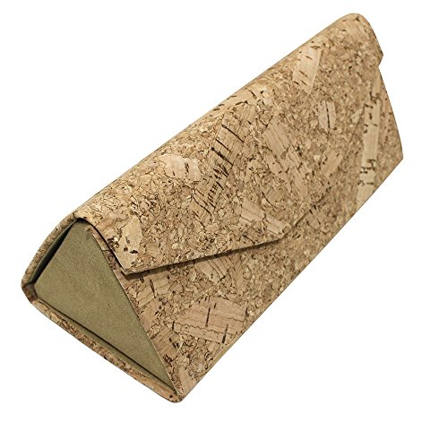 Eyeglasses Case, ASAPS Vintage Foldable Eyeglasses Case (Wood Sawdust)