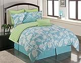 Sunset and Vine Marigold 6-Piece XL Twin Comforter Set, Blue/Green