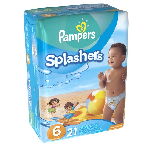 Pampers Splashers Swim Pants, Size 6, 21 Count