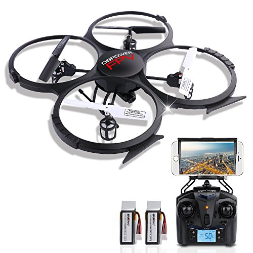 DBPOWER U818A WiFi FPV RC Quadcopter with HD Camera 2.4G 4CH 6 Axis Gyro