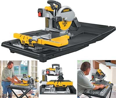 DEWALT D24000  1.5Horsepower 10Inch Wet Tile Saw