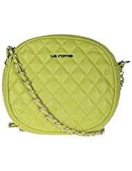 LA ROMA Green Leather Sling Bag For Women