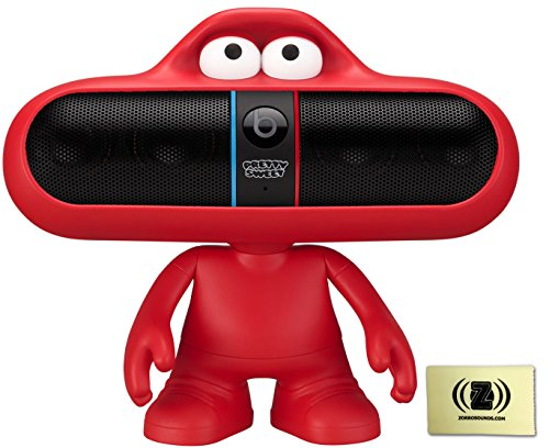 Beats By Dr. Dre Pill Pretty Sweet Black Portable Speaker System Bundle With Red Beats Pill Character Stand And Polishing Cloth