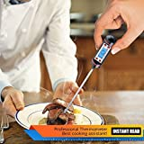 Aottop Latest Cooking, Digital Stainless Cooking Thermometer with Instant Read, Long Probe, LCD Screen, Anti-Corrosion, Best for Food, Meat, Grill, BBQ, Milk and Bath Water