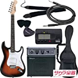 SELDER セルダー エレキギター ストラトキャスタータイプ サクラ楽器オリジナル ST-16/SB 初心者入門ベーシックセット
