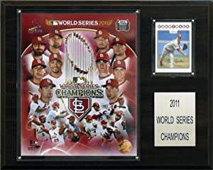 St. Louis Cardinals 2011 World Series 12 x 15 Plaque by C&I Collectables