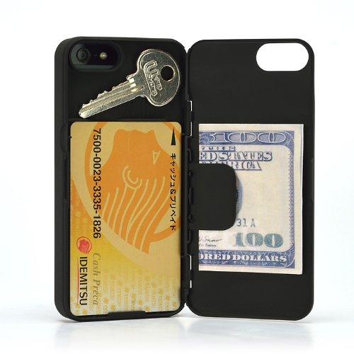 SP555:【正規輸入品】カード収納・マネークリップ機能搭載の薄型iPhone5用ケース『iLID Wallet Case for iPhone5』 [iPhone5 Suica PASMO カードホルダー ケース kickstarter] (ブラック)
