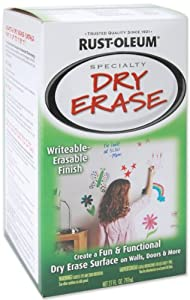 Rust-Oleum 241140 Dry Erase Brush-On Kit, White