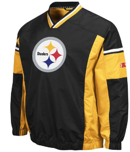 VF Pittsburgh Steelers Coaches Choice Trainer Wind Jacket (M=40) at Amazon.com