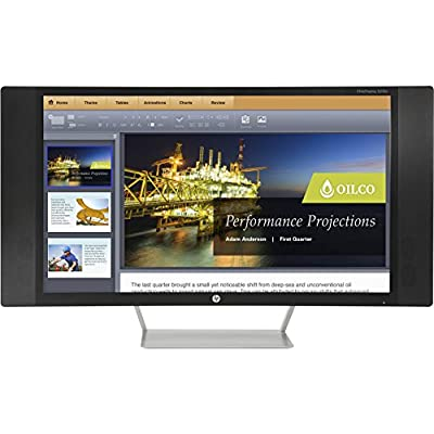 HP K1M38A8#ABA EliteDisplay S270c 27'' LCD Monitor, Black/Silver