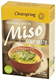Clearspring Organic Instant White Miso Soup Paste with Sea Vegetable 60 g (Pack of 4)