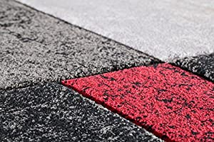 High Quality Modern Design Red Black Grey Rug in 5 Sizes by Lord of Rugs
