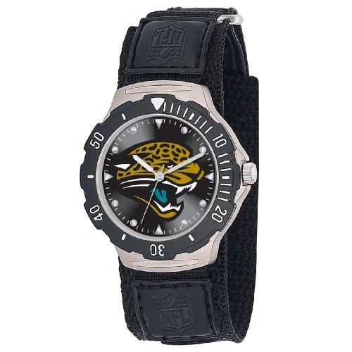 NFL Men's FDV-JAC Agent Series Jacksonville Jaguars Velcro Watch
