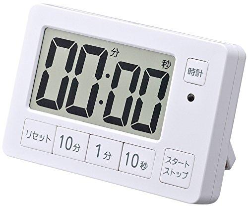 XXERT(イグザート) デジタルタイマー マグネット付き 置き掛け両用 ホワイト XXT504WH