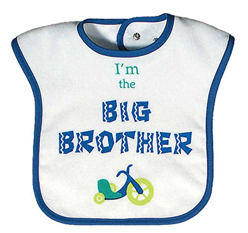 Raindrops I'm The Big Brother Screen Printed Bib, Royal Blue