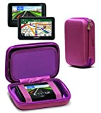 Navitech Purple Hard Carry Case Cover For The TomTom XXL Classic 5