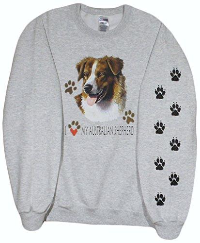 Jerzees Mens I Love My Australian Shepherd Sweatshirt