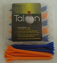 TALON - No friction golf tee with case & refill pack 80pk Orange & Blue