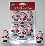 Santa Bobbling Bobble Head Cupcake Toppers by Wilton
